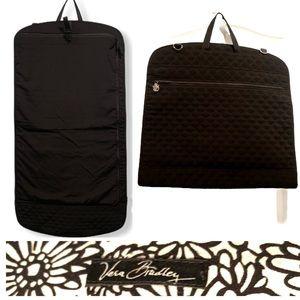 New Vera Bradley Black Quilted Hanging Garment Bag